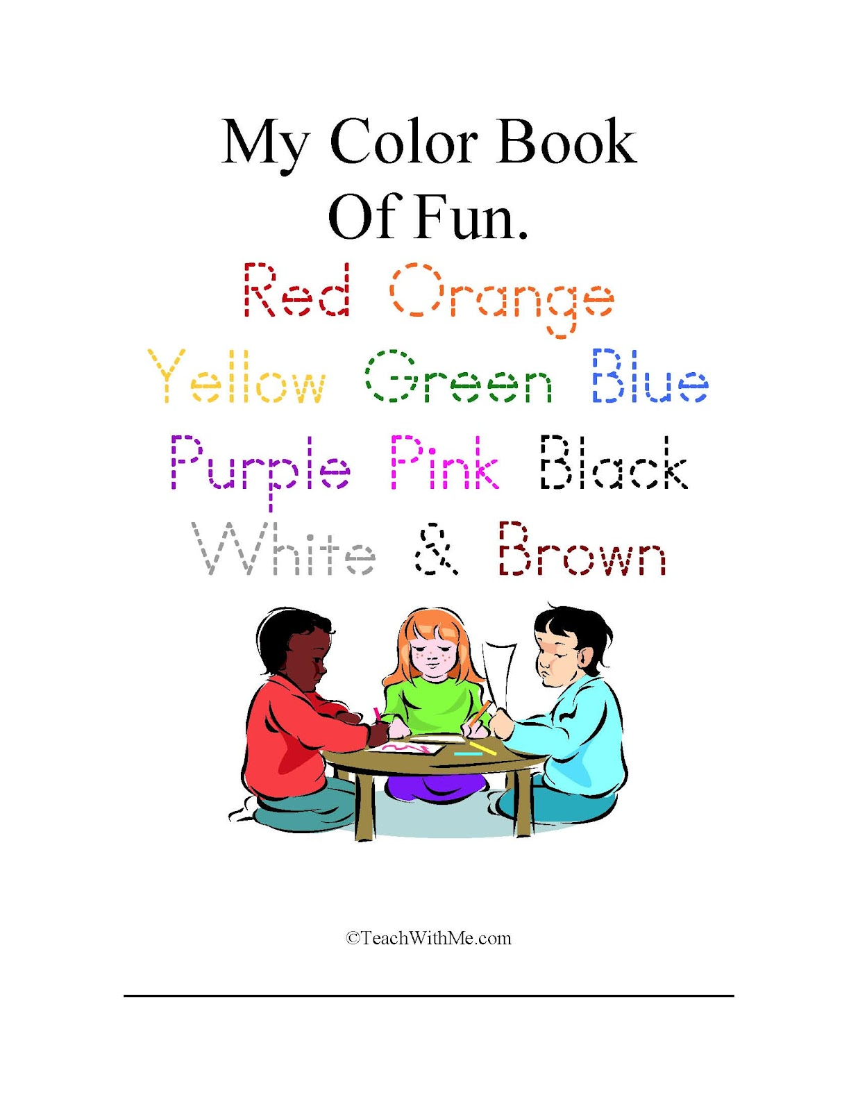 My Color Words Book Of Fun - Classroom Freebies