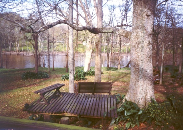 the mayfield backyard bayou vermilion flowing in background