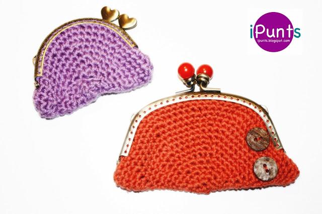 Monedero Style de crochet. Patrón gratis de iPunts: agujas y ganchillo.