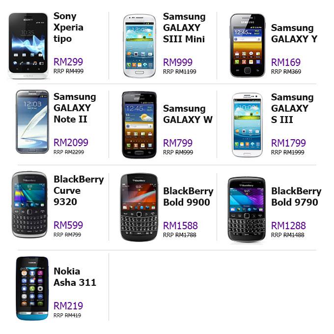List Rebate Smartphone (Telefon Pintar) - RM200