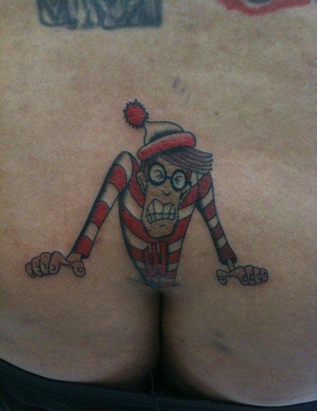 Pinocchio tattoo on penis