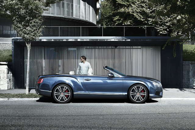 Bentley Continental GTC V8 Blue Wallpaper