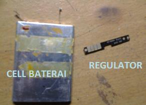 Baterai kalo di Bongkar