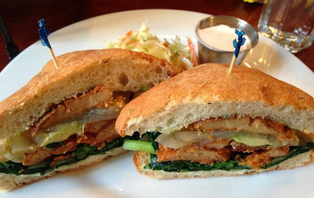 Cajun Seitan Sandwich - Candle Café UES - Vegan