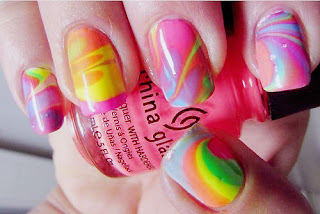 marble, marble effect, marble effect nails, nail varnish, nail polish, 1960, 60's, 60s, sixties, hippie, hippy