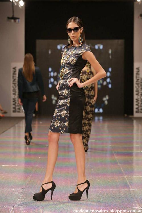 Calandra otoño invierno 2014 moda vestidos casuales 2014.