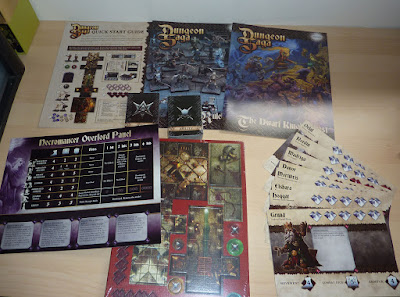 Unboxing the Kickstarter for Dungeon Saga: Dwarf Kings Quest, The Warlord of Galahir, Infernal Crypts, The Tyrant of Halpi and The Return of Valandor.