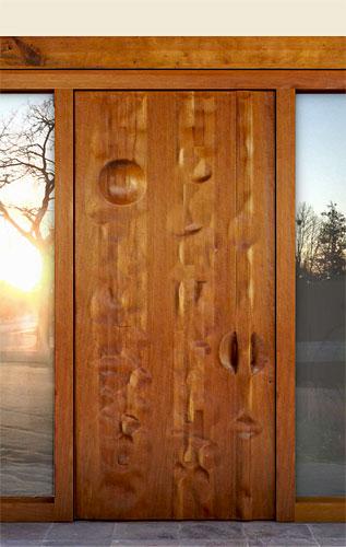 Fotos y dise os de puertas puerta acceso rustica for Puertas principales de madera rusticas