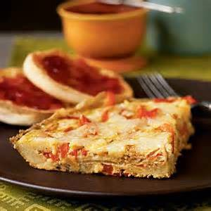 Healthy recipes of Red pepper and fennel frittata