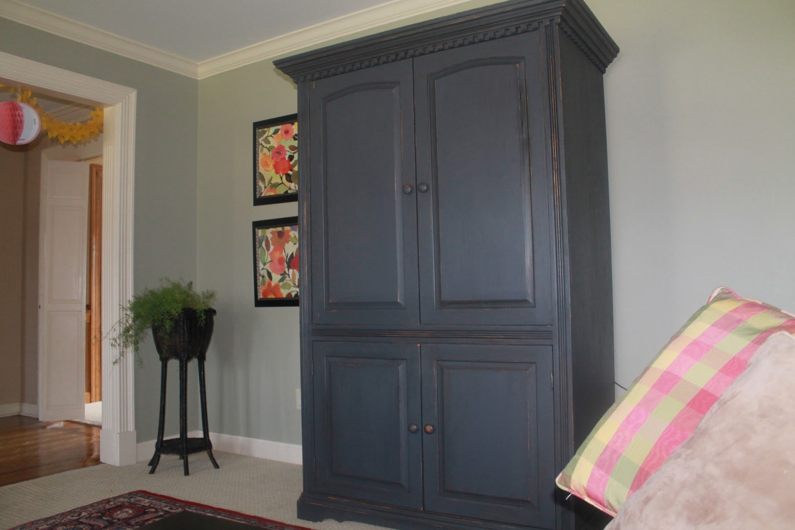 The Niemeyer Nest Armoire Transformation Paint Changes
