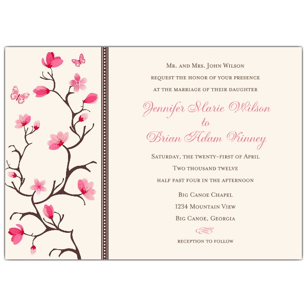 Cherry Blossom Wedding Invitations1. Cherry Blossom Wedding Invitations
