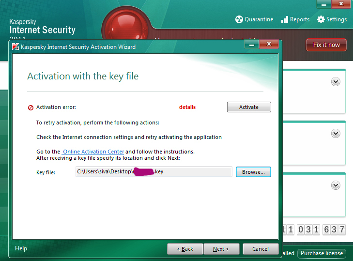 kaspersky internet security 7.0 activation key