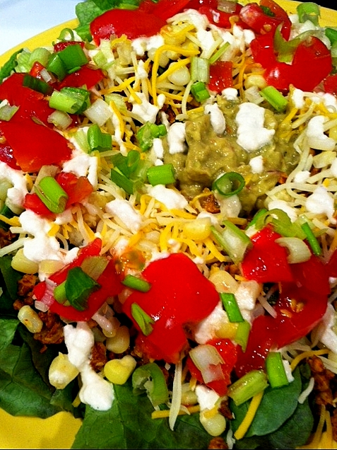 two bean taco salad layered raw taco salad taco salad layered raw taco ...