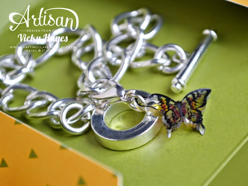 A pretty charm bracelet - my gift to team members on their promotion