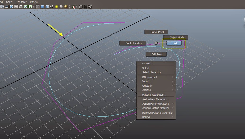 Modifying Curve Components in Maya 05