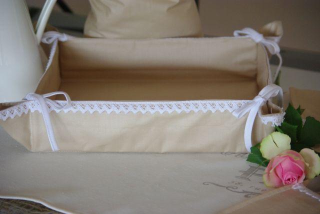 materiałowy koszyk na pieczywo, koszyk na pieczywo z materiału