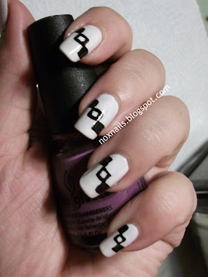 Nox nails today calls for black white nails i do a lot of black white so i was a little stumped as to what to do without repeating myself solutioingenieria Image collections