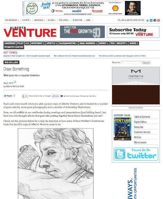Draw Something Alberta Venture Dave Webber