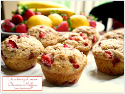 This week's recipe ~ Strawberry Lemon Banana Muffins