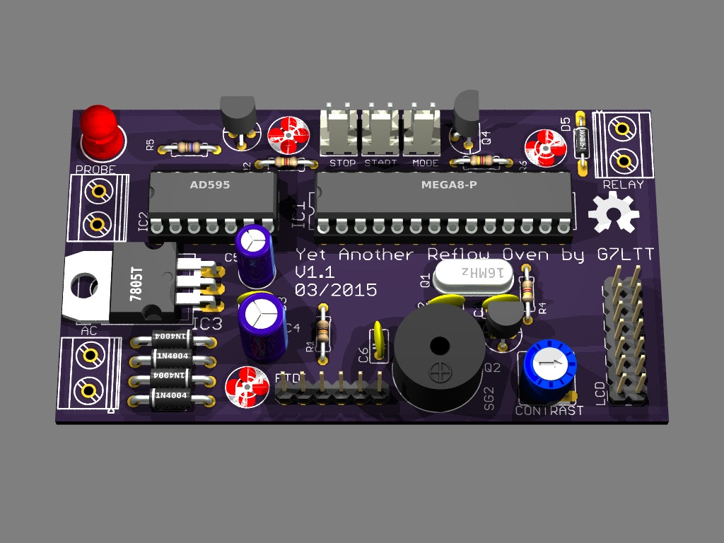 This Internet Thing Will Never Catch On Yet Another Reflow Oven Electric Relay Is What I Came Up With The Board Above Contains An Ac Power Supply Lcd Interface Temperature Sensor Buttons Buzzer