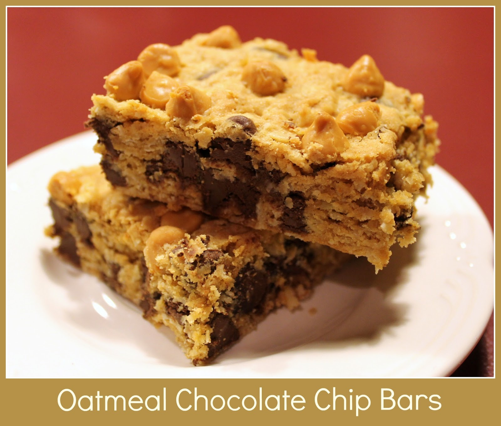 Imitation by Design: Oatmeal Chocolate Chip Cookie Bars