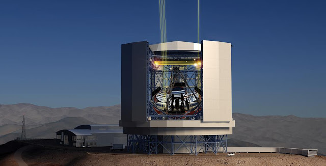 Artist's rendering of the Giant Magellan Telescope. Credit: gmto.org