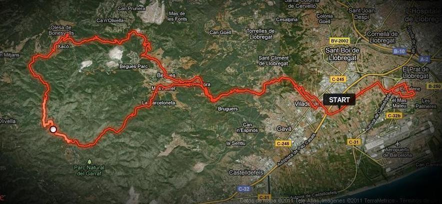 Mountain bike a c prat excursion begues can grau olesa y subida a la plana del montau - Temperatura en begues ...