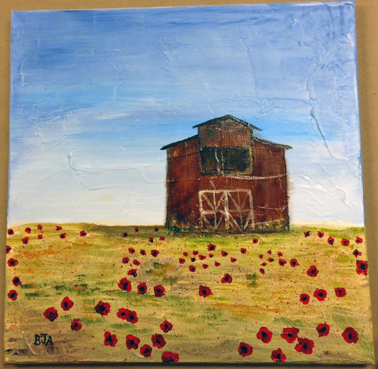 The Laughing Magpie: Class Fun: Barns & Poppy Fields