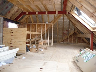 diary of an eco retrofit loft conversion taking shape. Black Bedroom Furniture Sets. Home Design Ideas