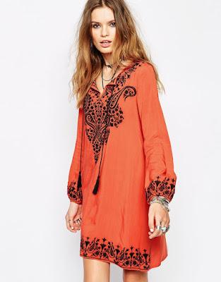 Glamorous Oversized Embroidered Kaftan