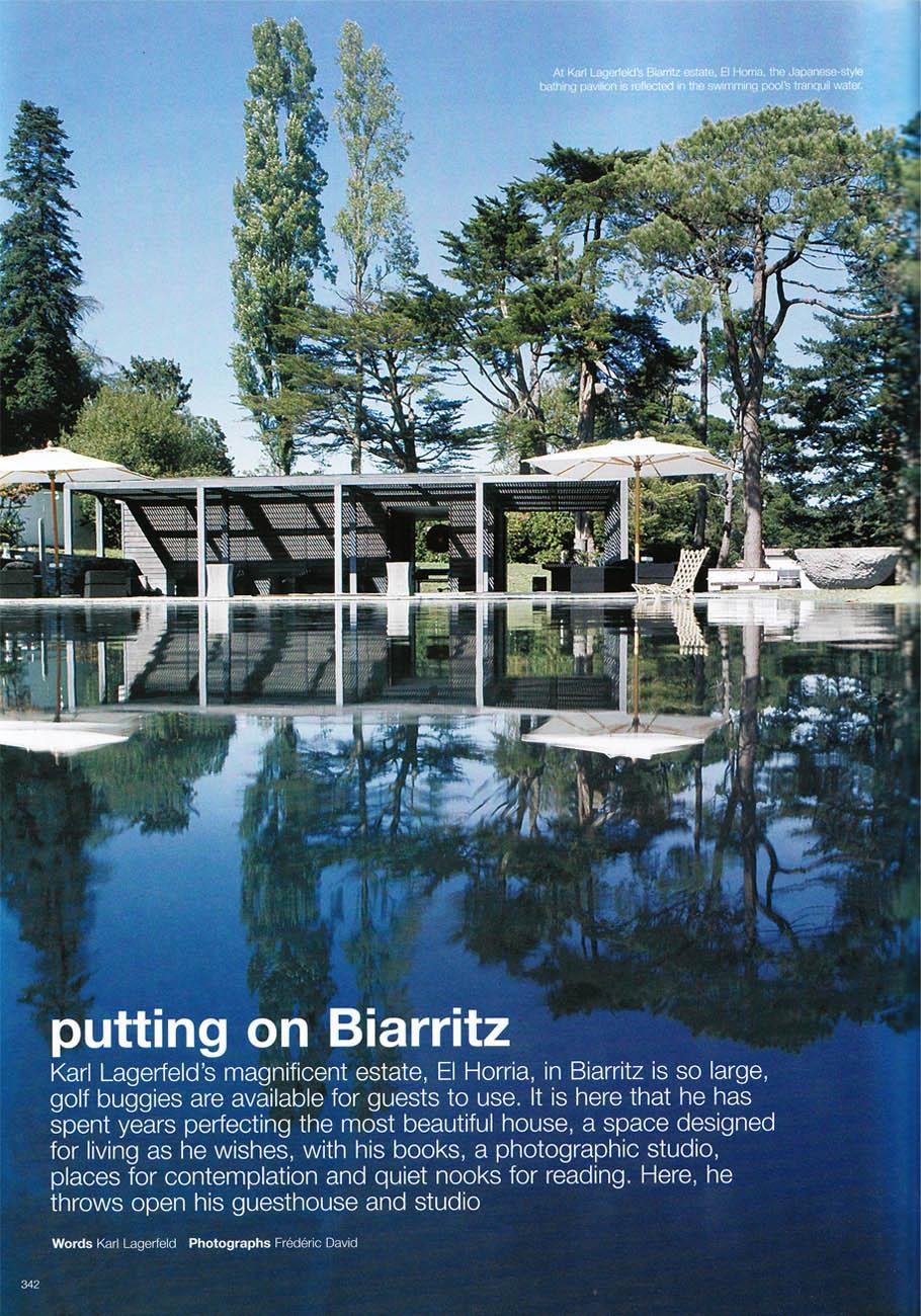 Le style maison du jour karl lagerfeld 39 s biarritz home - Maison karl lagerfeld ...