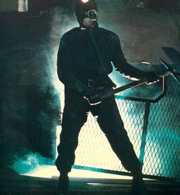 the miner strikes a pose in My Bloody Valentine (1981)