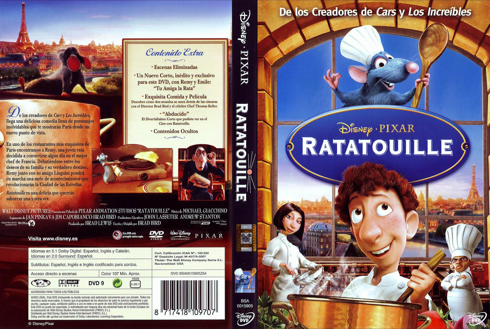 Ratatouille Hdrip Castellano 2007