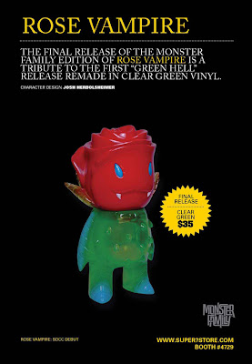 Super7 - Final Release Clear Green Hell Rose Vampire by Josh Herbolsheimer