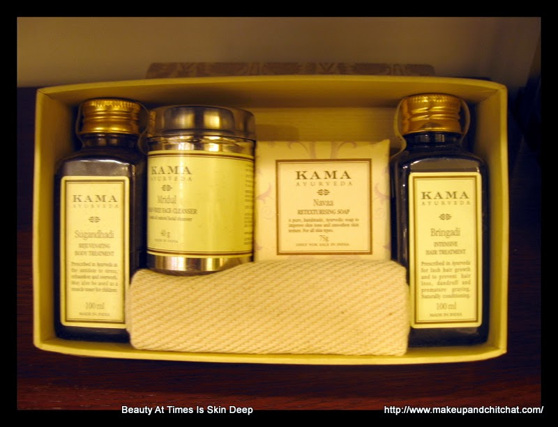 photos of gift boxes from Kama Ayurveda