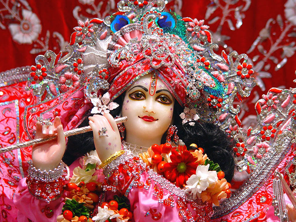 Hd wallpaper lord krishna - Cute Lord Krishna Pink Dress Hd Wal