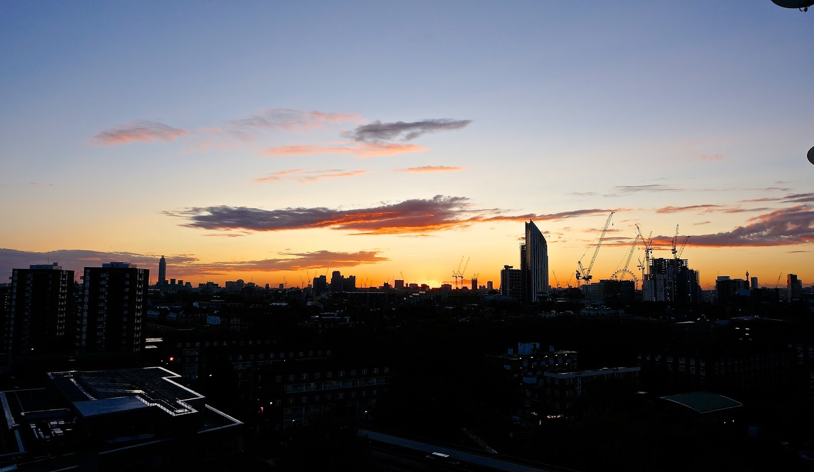 Sunset Rooftops sky view rainbow London Landscape Photography www.lexieblush.co.uk