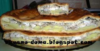 Пирог с рыбой  Серебро севера