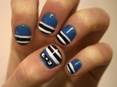Cute Pink Black Nail Designs For Short Nails , Anna Charlotta
