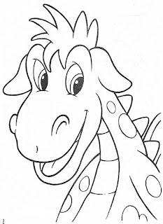 Dragon sonriendo para colorear