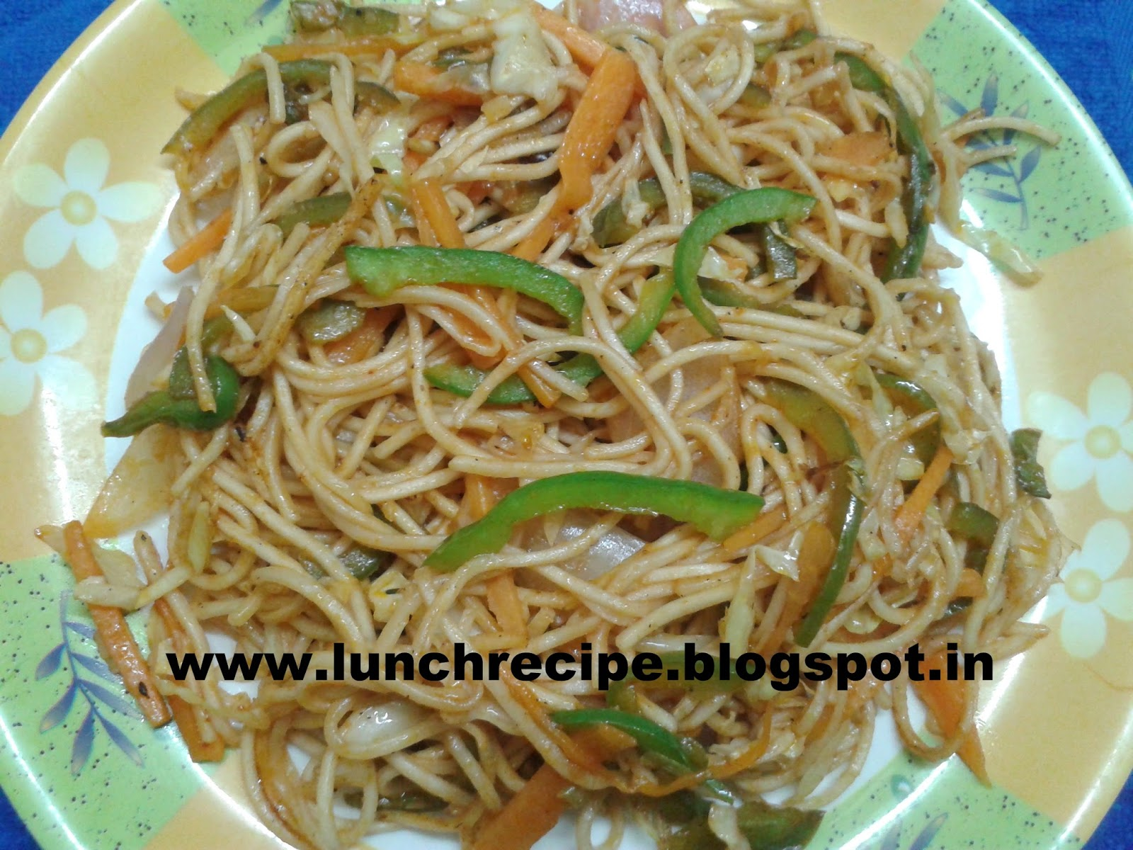 How to make Veggie Soya Noodles Recipe | वेजी सोया नूडल्स - Veggie Soya Noodles