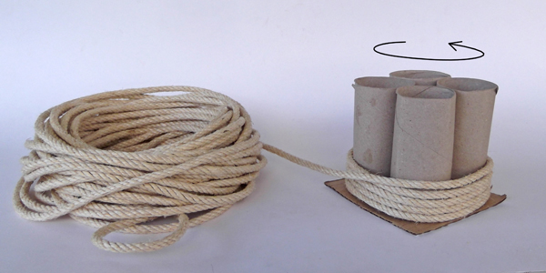 rope crafts, crafts with rope, crafts with toilet paper tubes, crafts with toilet paper rolls