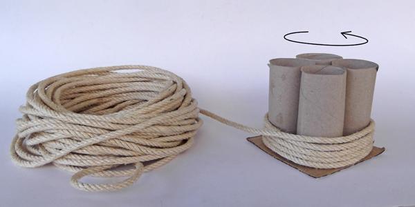 χειροτεχνίες με σκοινί, ιδέες για διακόσμηση μολυβοθήκες, διακόσμηση μολυβοθήκης,