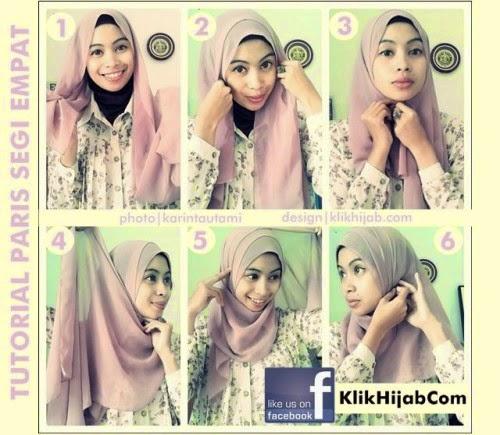 cara memakai jilbab paris gradasi