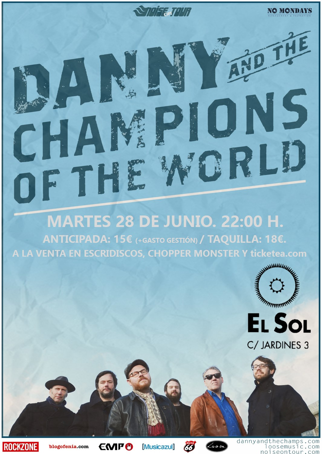 Danny & The Champions Of The World - El Sol - 28/06/2016