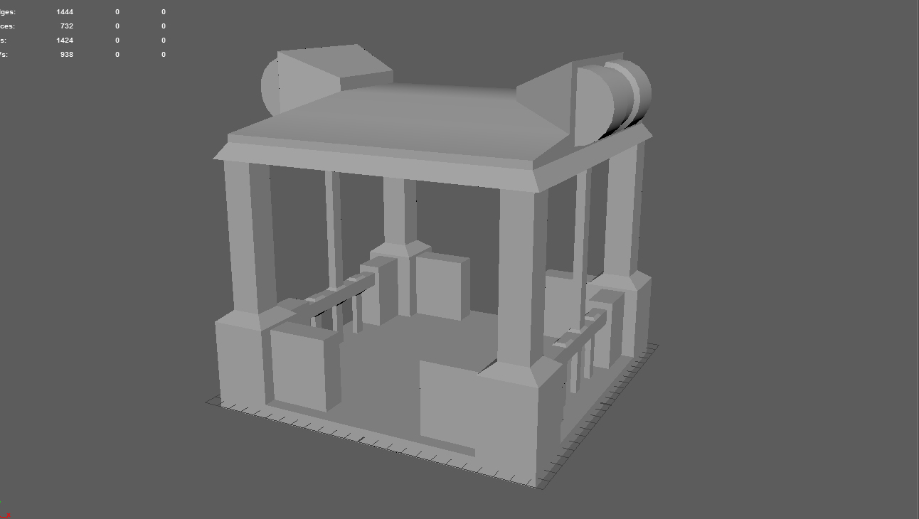 i also had to create separate models for the map the elevator the generator and a vehicle
