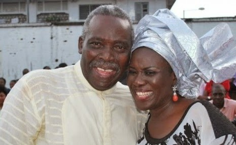 Olu Jacobs with Joke Silva
