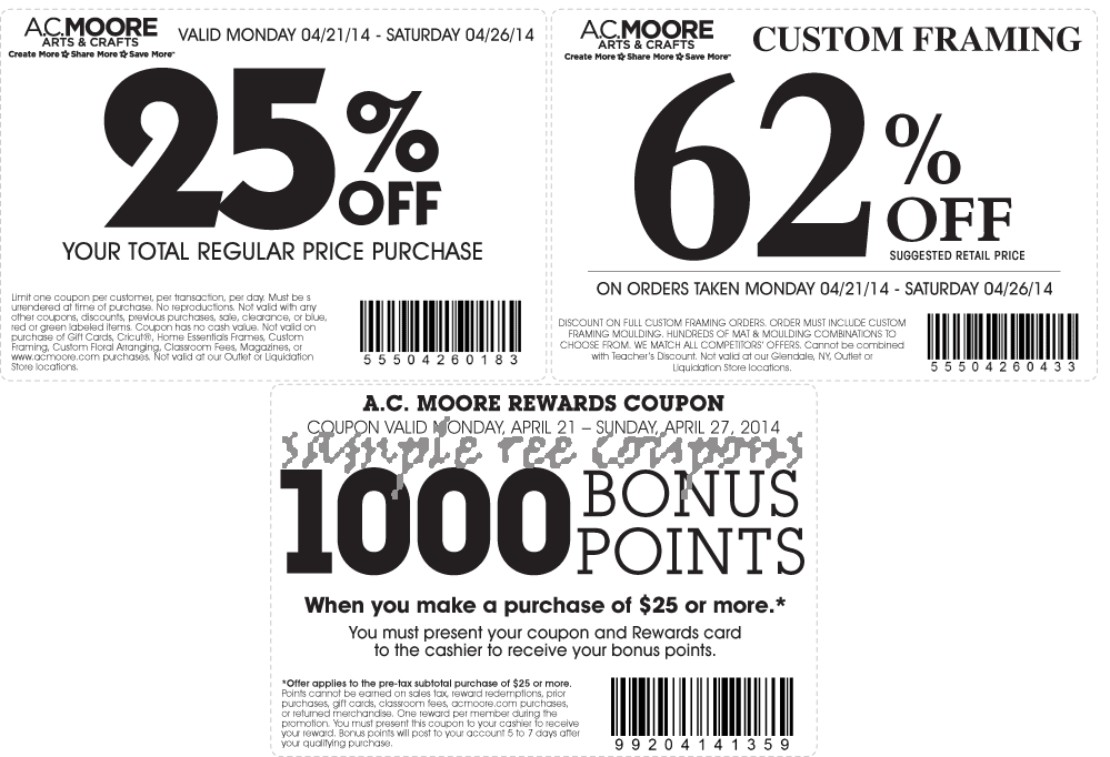 image regarding Benjamin Moore Printable Coupon titled Ac moore printable coupon 2018 / Knight discount coupons