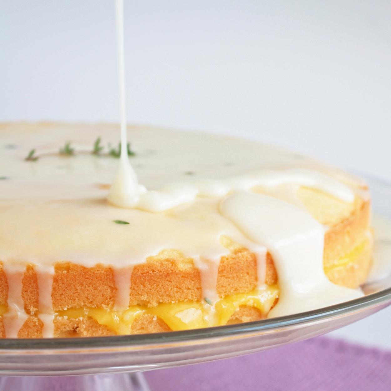 Meyer Lemon Bundt Cake Curd Filling