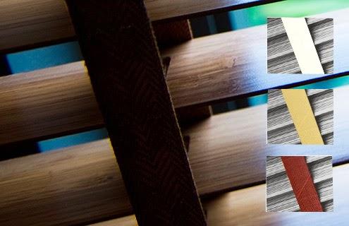 多數百葉窗可選擇不同織紋梯帶搭配